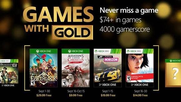 Juegos con Gold septiembre 2016
