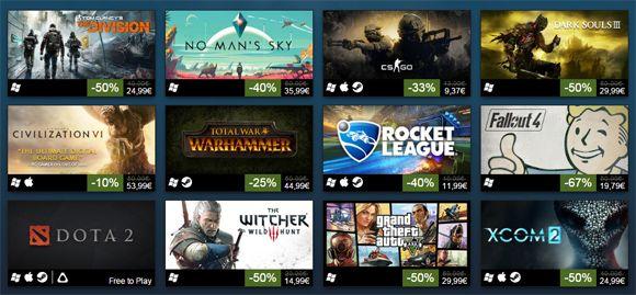 Steam anuncia sus juegos más vendidos de 2016