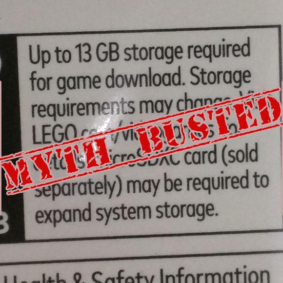 Ni rastro de la descarga obligatoria de datos en Lego City Undercover en Switch