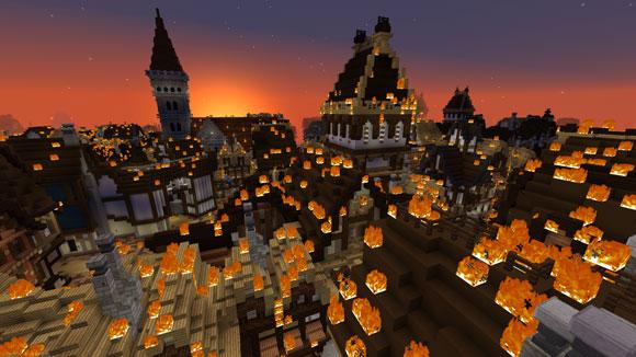 El Museo de Londres recrea el Gran Incendio de 1666 en Minecraft